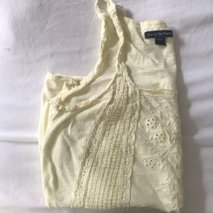 Yellow Camisole Lace Detail